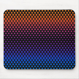 Hot Cold Fading Halftones Mouse Pad