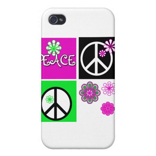 Hot Colors Peace and Gifts Case For iPhone 4