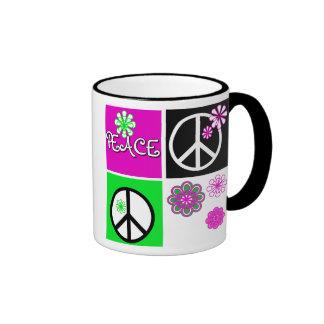 Hot Colors Peace Coffee Mugs