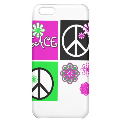 Hot Colors Peace T-shirts and Gifts iPhone 5C Covers