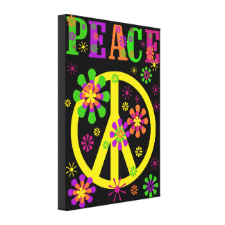 Hot Colours Peace Canvas Print