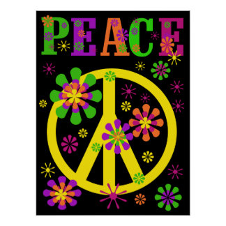 Hot Colours Peace Poster