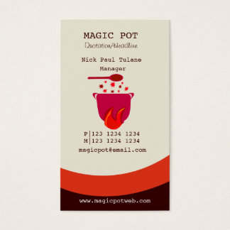 Hot Cooking Simmering Pot Chef Business Card