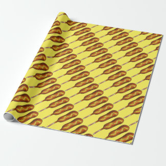 Hot Corn Dog Corndog Mustard Junk Food Gift Wrap
