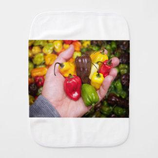 Hot crops burp cloth