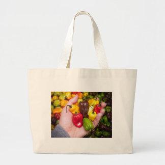 Hot crops large tote bag