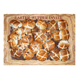 Hot Cross Buns Easter Basket 1 Personalized Announcement