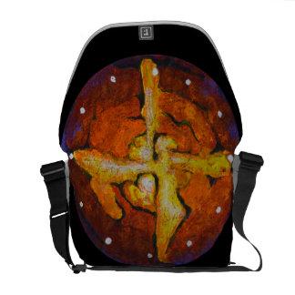 Hot cross star - Abstract Messenger Bag