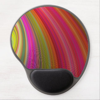 Hot curved stripes gel mouse pad