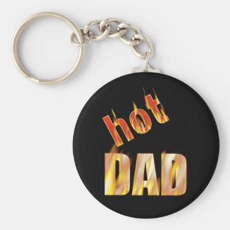 Hot Dad Basic Round Button Key Ring