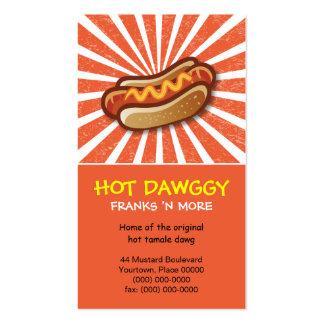 Hot Dawg Orange Burst Pack Of Standard Business Cards