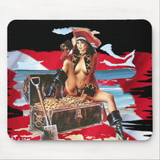 Hot Dive Babes in Bikini's Mouse Pad