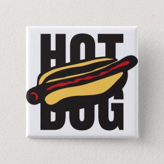 hot dog 🌭 15 cm square badge