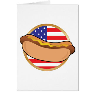 Hot Dog American Flag Cards