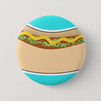 Hot Dog and Relish 6 Cm Round Badge