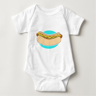 Hot Dog and Relish Baby Bodysuit