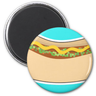 Hot Dog and Relish Magnet