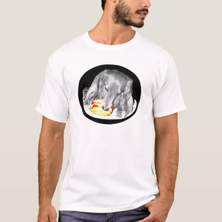 Hot Dog Attacks Cheeseburger T-Shirt