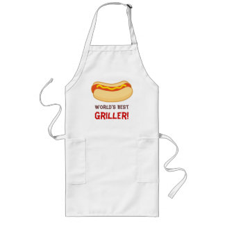 Hot Dog BBQ Grilling Apron Worlds Best Gift