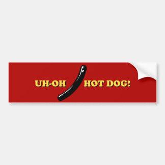 Hot Dog Bumper Sticker Car Bumper Sticker