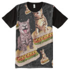 hot dog cat invasion All-Over print T-Shirt