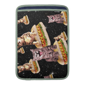 hot dog cat invasion sleeves for MacBook air