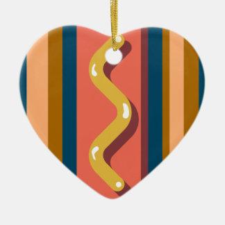 Hot Dog Ceramic Ornament