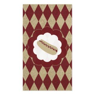 hot dog diamonds business card template
