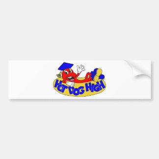 Hot Dog High Bumper Sticker