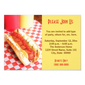Hot Dog Invitations