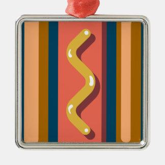 Hot Dog Metal Ornament