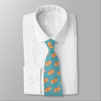 Hot Dog on Your Chosen Color - Novelty Food Theme Tie