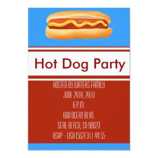 Hot Dog Party Invitation