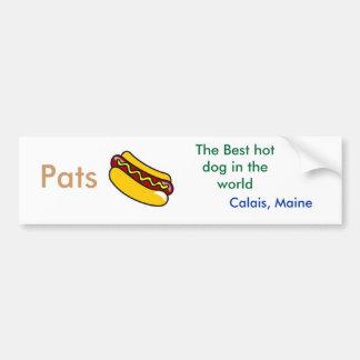 hot dog, Pats , The Best hot dog in the world ,... Car Bumper Sticker