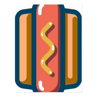 Hot Dog Postcard