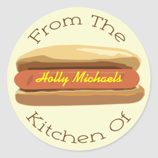Hot Dog Sticker - From The Kitchen Of...
