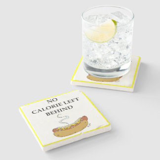 hot dog stone coaster