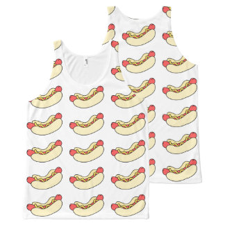 Hot Dogs All Over Tank Top All-Over Print Tank Top