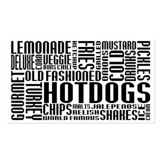 hot dogs (chit chat) business cards