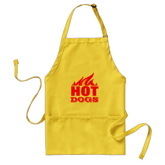 HOT DOGS fire flames bbq aprons for men and women