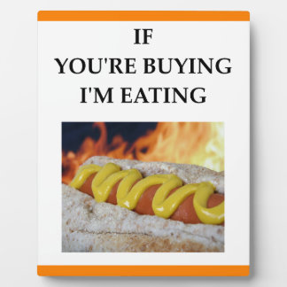 hot dogs photo plaque