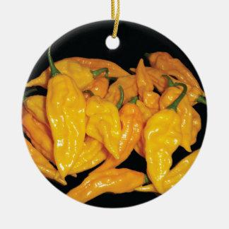Hot Fatalii Chilli Pepper Round Ceramic Decoration