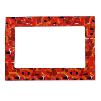 Hot Faux Mosaic Collage Frame Magnet