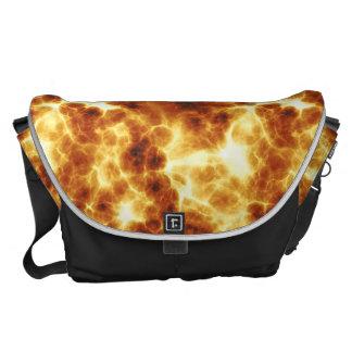 Hot Fiery Design Messenger Bag