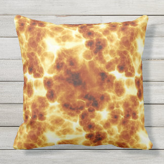 Hot Fiery Flame Pattern Throw Pillow