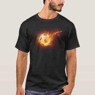 Hot Fire Flames & Smoke Graphic Soccer T-Shirt