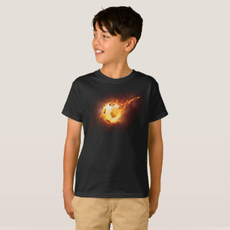 Hot Fire Flames & Smoke Graphic Soccer T-Shirt
