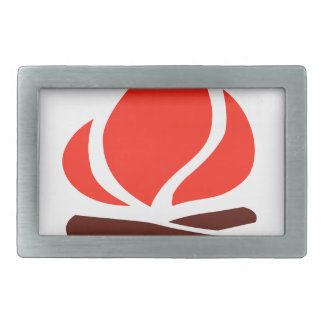 hot fire in fireplace belt buckles