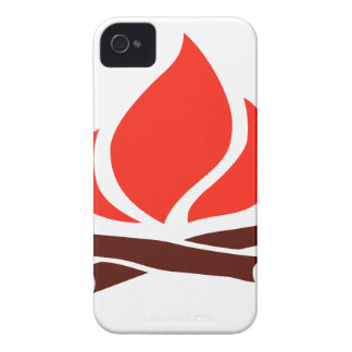 hot fire in fireplace iPhone 4 Case-Mate cases