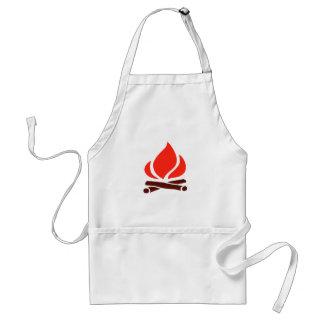 hot fire in fireplace standard apron